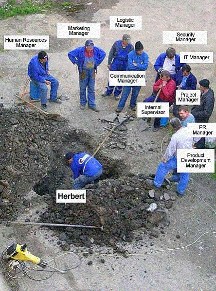Herbert bei der Arbeit